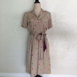 Frances Henaghan Vintage Polk Dot Dress 12